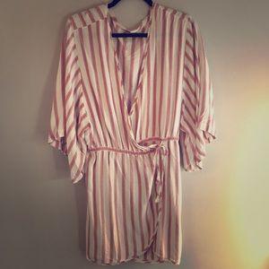 Free People wrap Americana stripe tunic dress